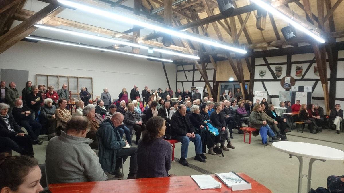 Viele Interessierte haben an der Veranstaltung in der Kelter teilgenommen.