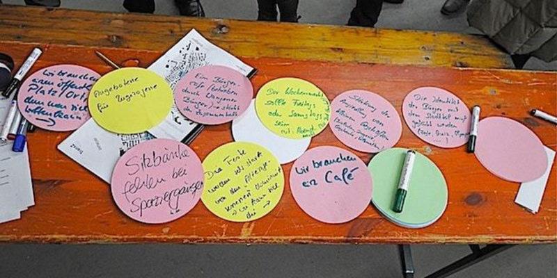 Es Wurden Viele Ideen Für Die Zukunft Des Wangener Zentrums Gesammelt.  Foto: Manfred Kassen