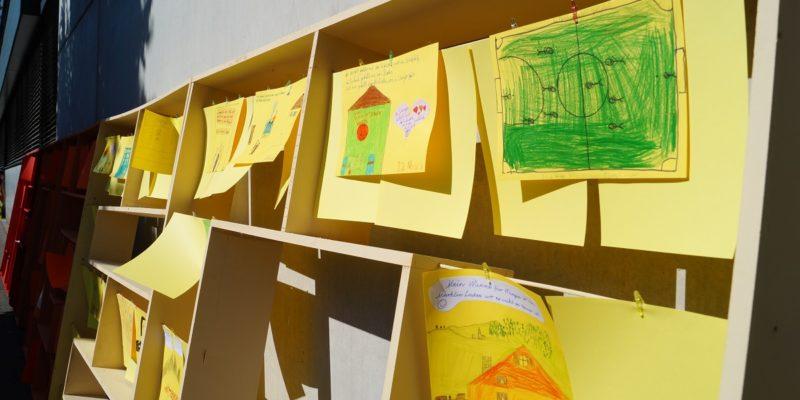 Die Kinder Der Wilhelmschule Hatten Die Möglichkeit, Ihre Meinungen Und Wünsche Zu Wangen Darzustellen.