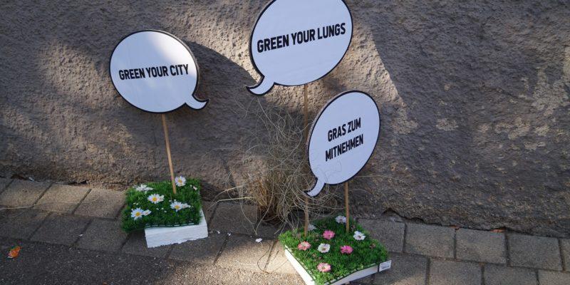 Mit Gras Zum Mitnehmen Konnten Orte In Wangen Begrünt Werden.