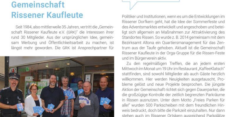 Auch Die Gemeinschaft Der Rissener Kaufleute Stellt Sich In Der Neuen Broschüre Vor.